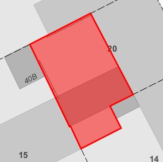 Kartbild över gällande plan